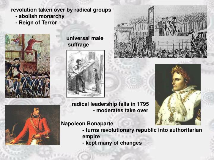 revolution taken over by radical groups