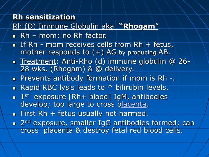 Rh sensitization