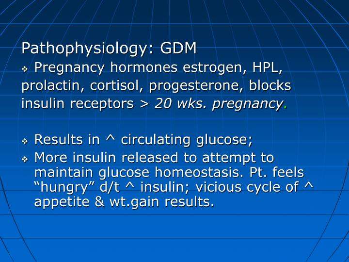 Pathophysiology: GDM