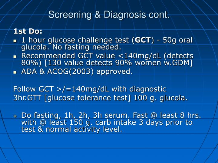 Screening & Diagnosis cont.