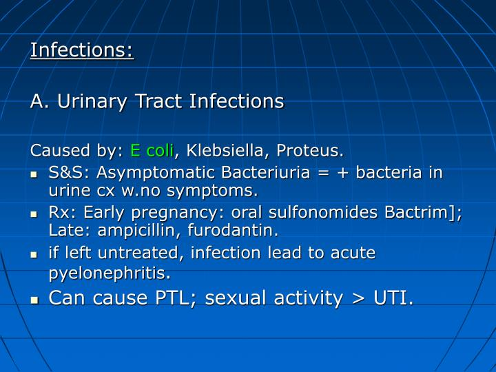 Infections: