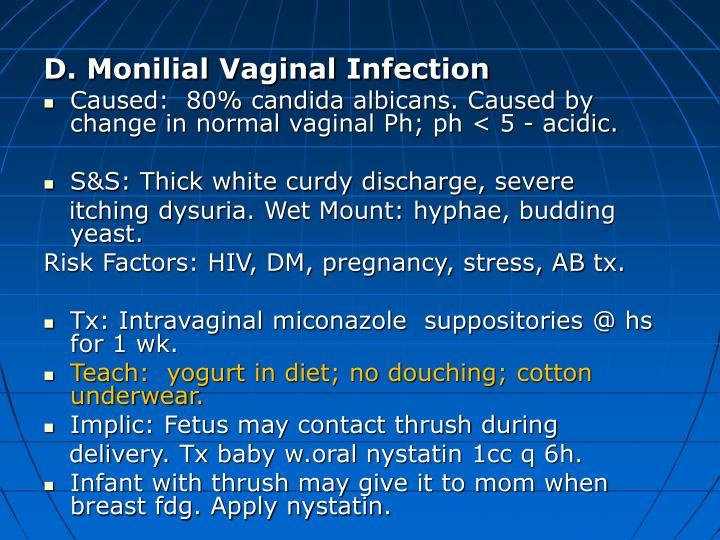 D. Monilial Vaginal Infection