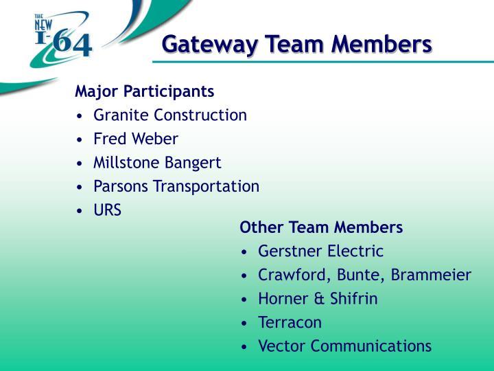 Major Participants