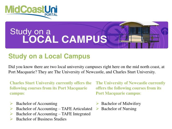 Study on a Local Campus