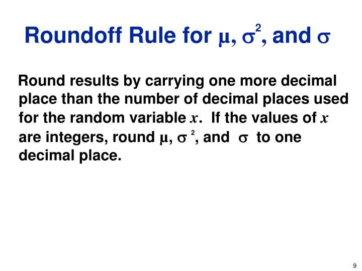 Roundoff Rule for