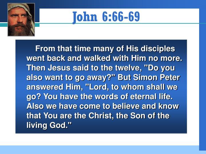 John 6 66 69