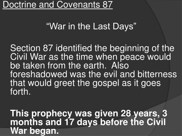 Doctrine and Covenants 87