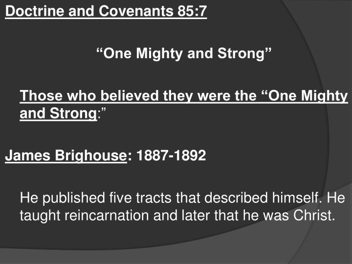 Doctrine and Covenants 85:7