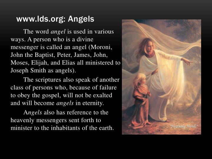 www.lds.org: Angels