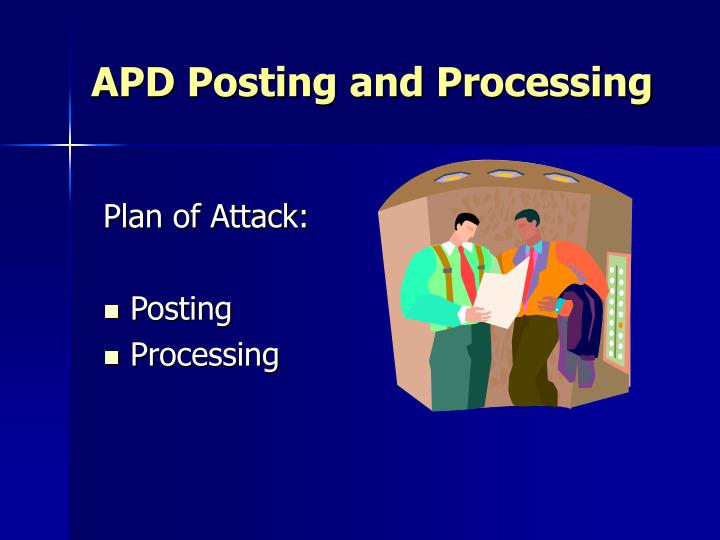 Apd posting and processing2