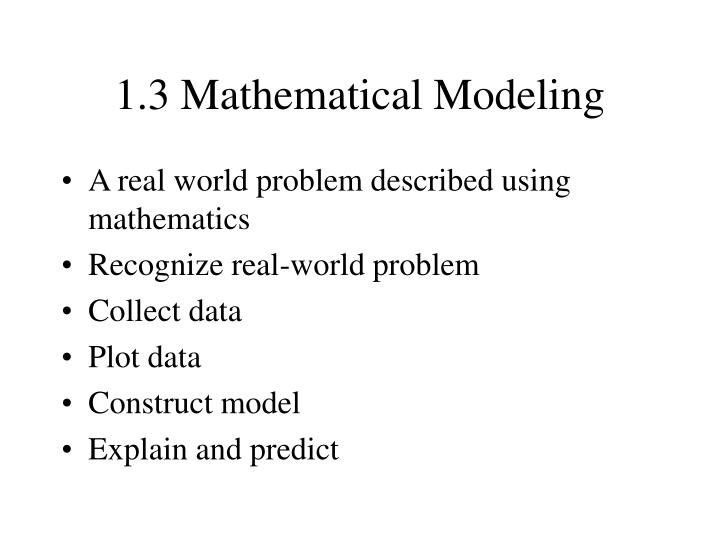 1 3 mathematical modeling n.
