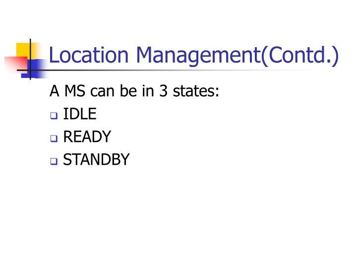 Location Management(Contd.)