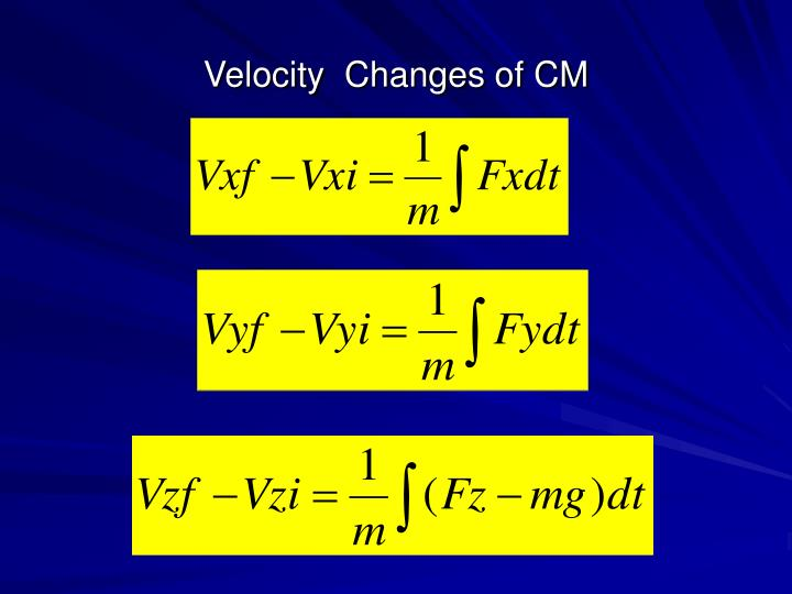 Velocity  Changes of CM