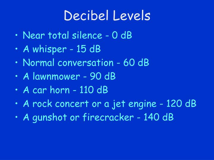 Decibel Levels
