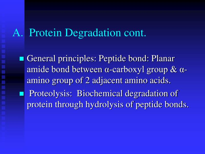 A protein degradation cont
