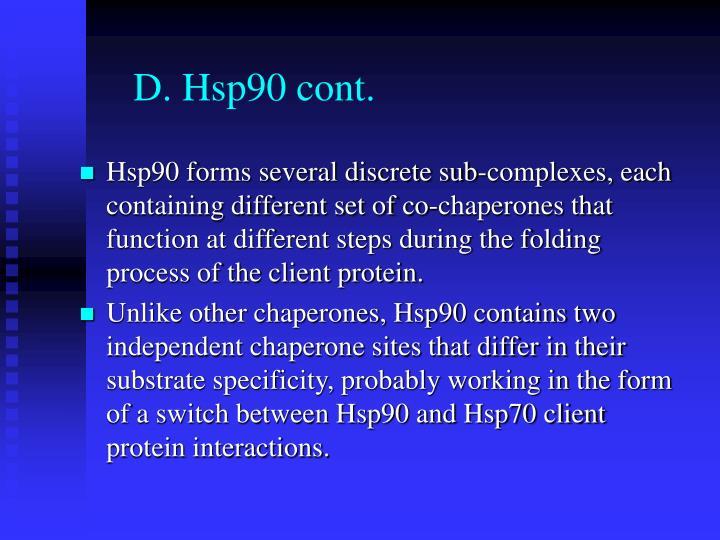 D. Hsp90 cont.