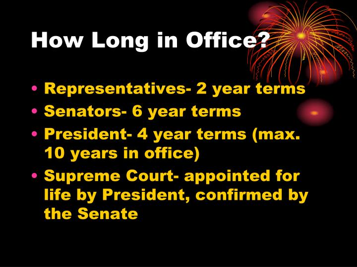 How Long in Office?