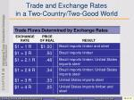 trade and exchange rates in a two country two good world1