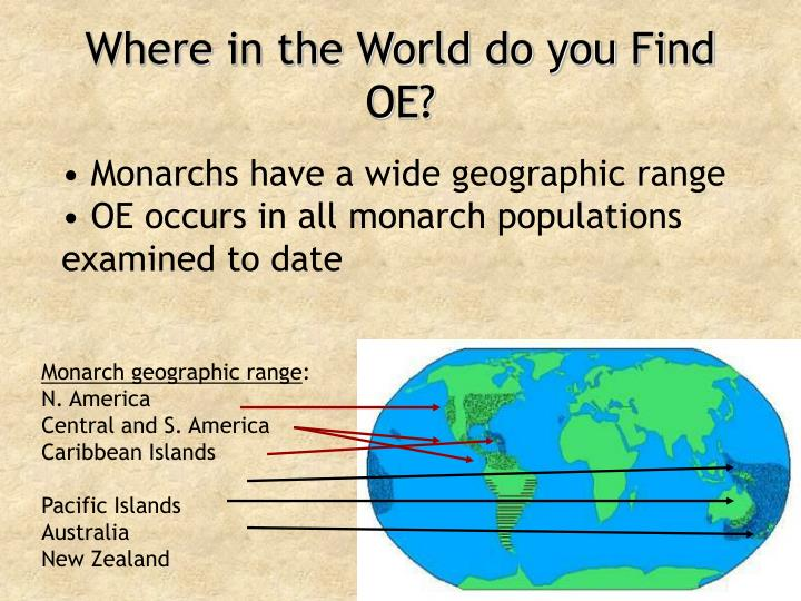 Where in the World do you Find OE?