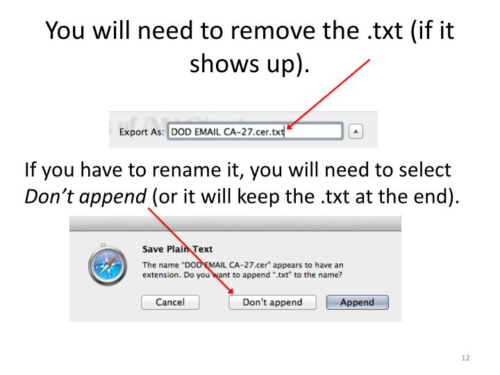 You will need to remove the .txt (if it shows up).
