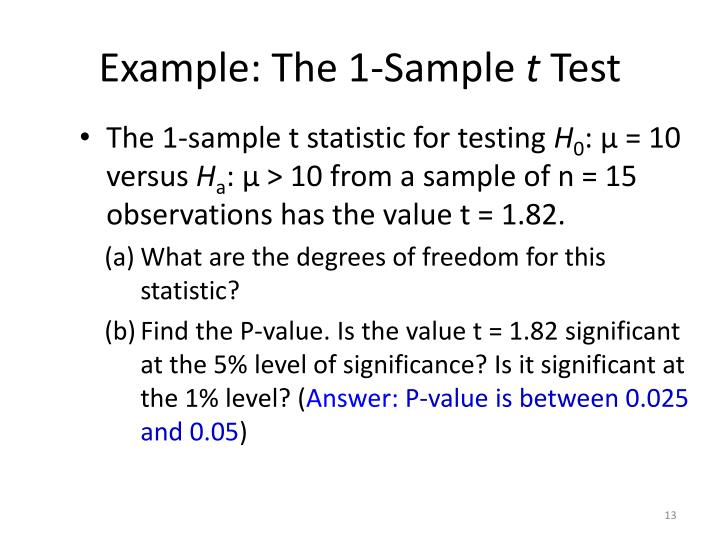 Example: The 1-Sample