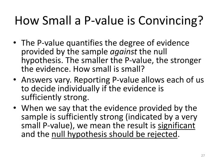 How Small a P-value is Convincing?