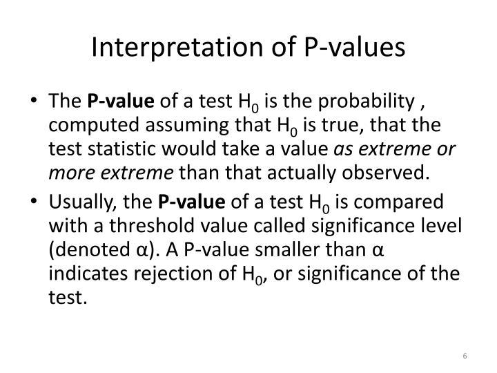 Interpretation of P-values