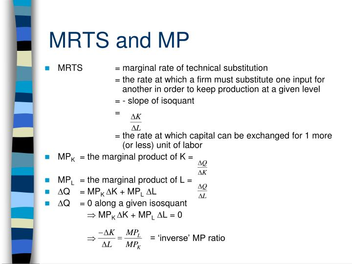 MRTS and MP