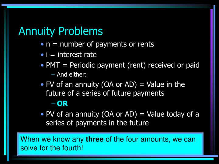 Annuity Problems