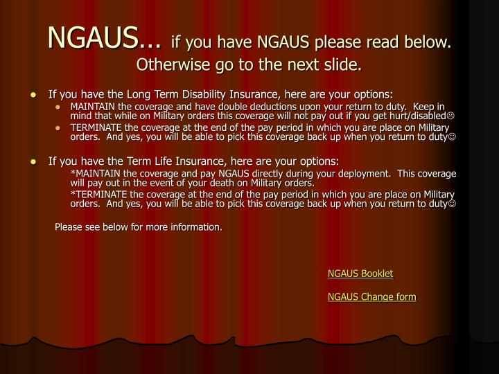 NGAUS…