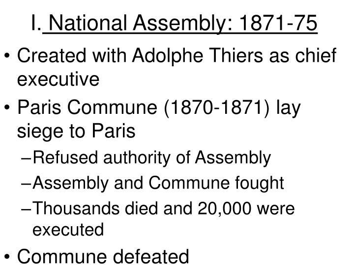 I national assembly 1871 75