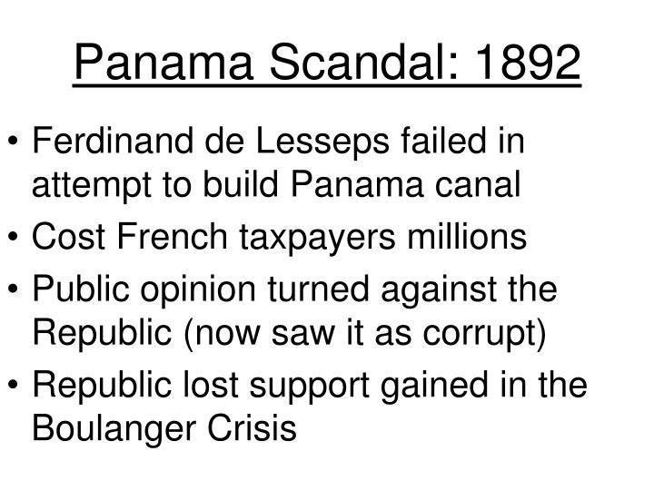 Panama Scandal: 1892