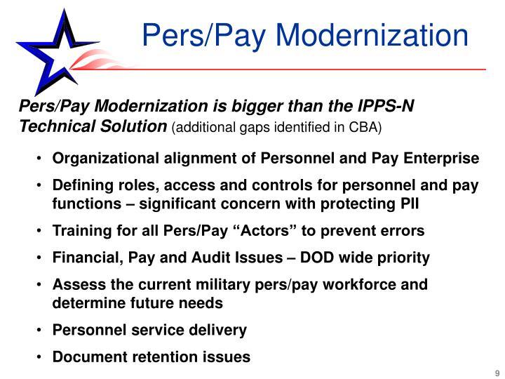 Pers/Pay Modernization