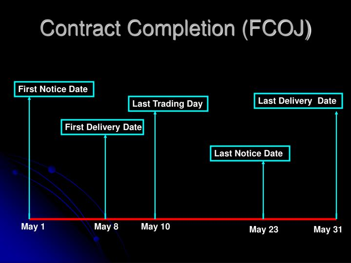Contract Completion (FCOJ)