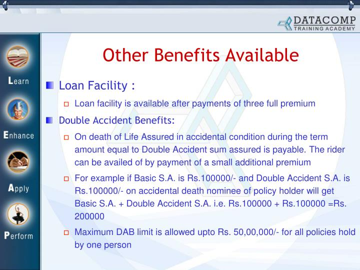 Other Benefits Available