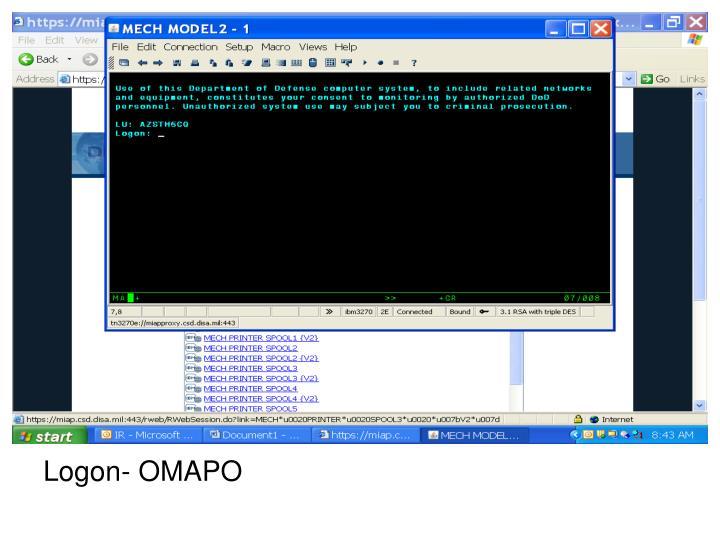 Logon- OMAPO
