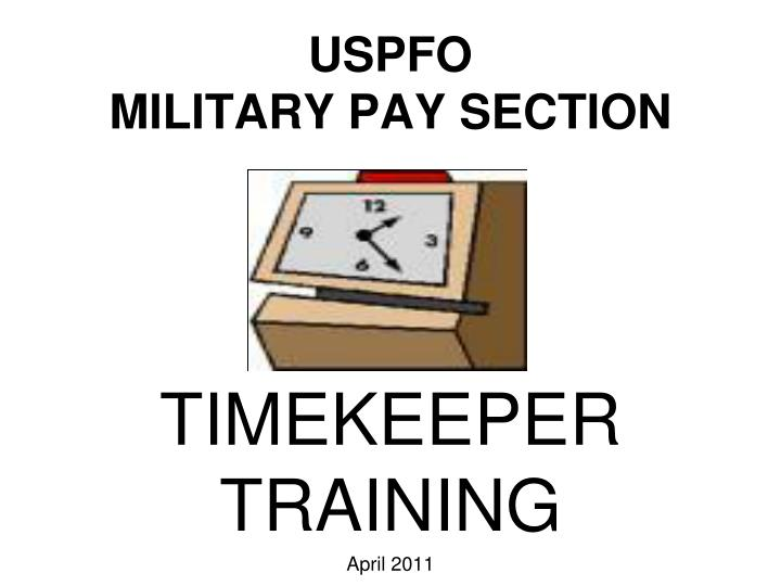 Uspfo military pay section
