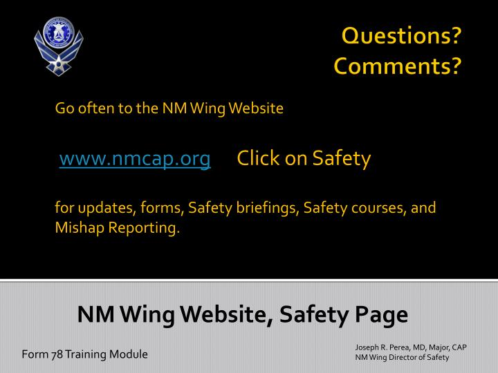 Go often to the NM Wing Website