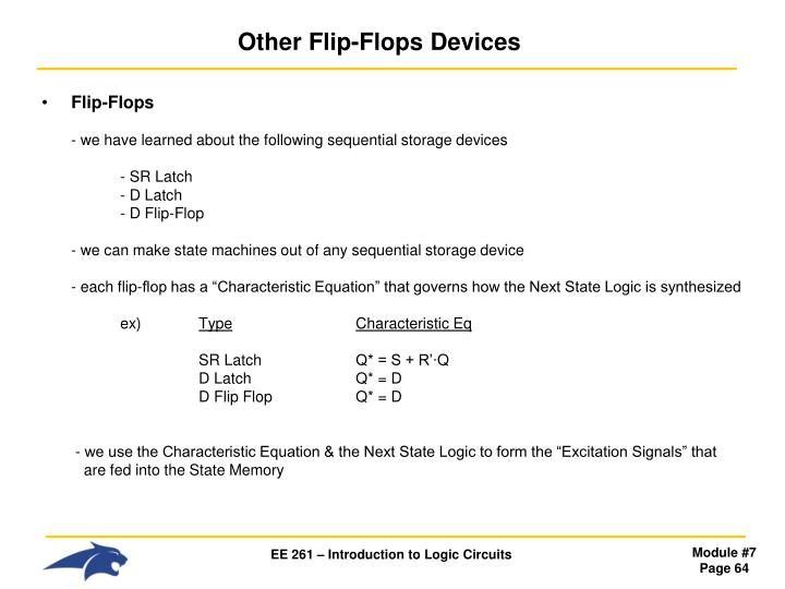 Other Flip-Flops Devices