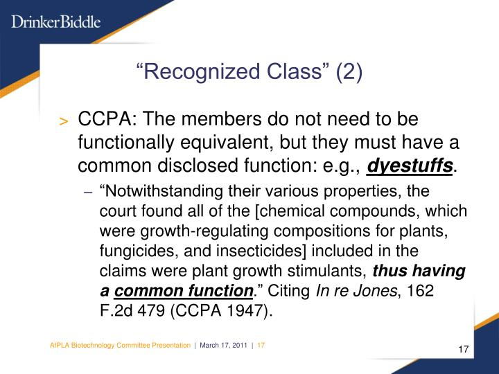 """Recognized Class"" (2)"