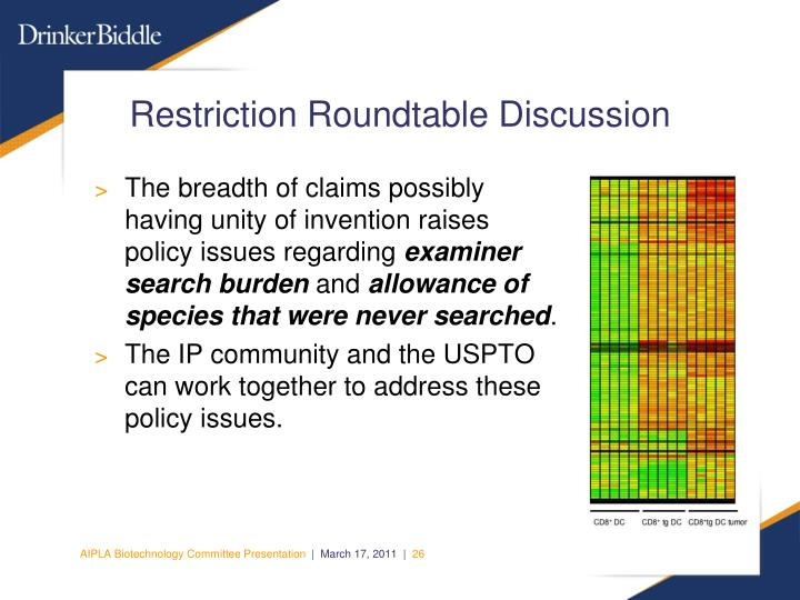 Restriction Roundtable Discussion