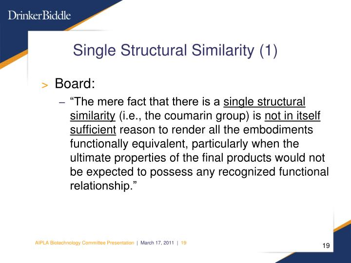 Single Structural Similarity (1)