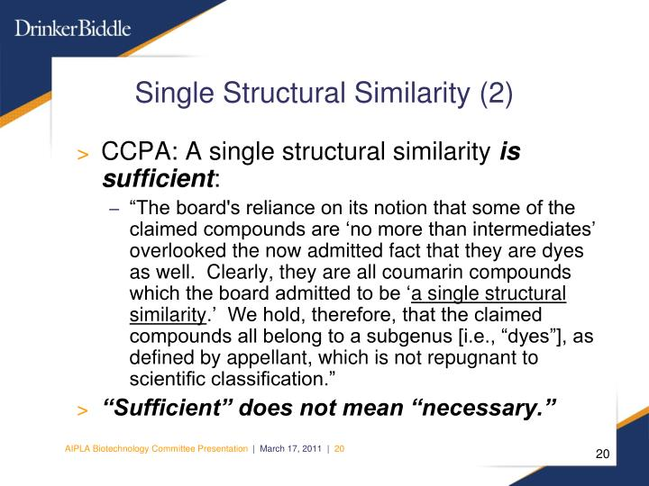 Single Structural Similarity (2)