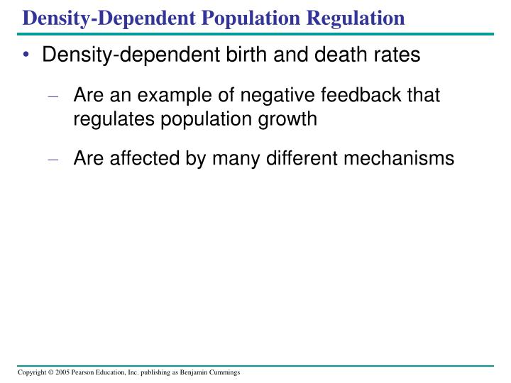 Density-Dependent Population Regulation