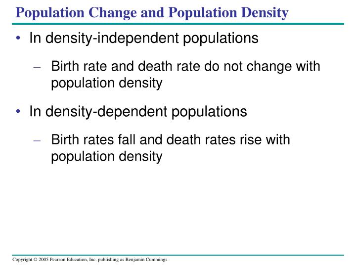 Population Change and Population Density