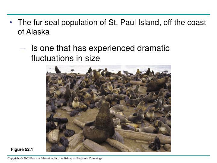 The fur seal population of St. Paul Island, off the coast of Alaska