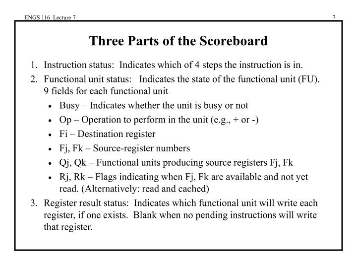 ENGS 116  Lecture 7