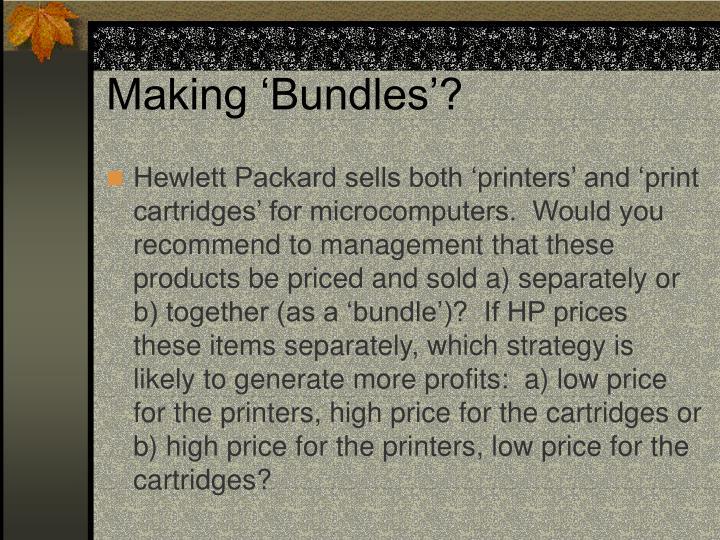 Making 'Bundles'?