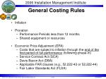 general costing rules