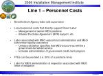 line 1 personnel costs